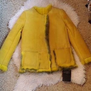 Giorgio brato lemon 🍋 silver sherling coat